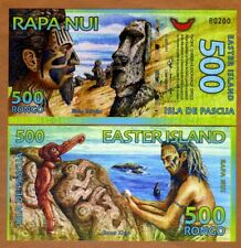 Easter Island, 500 Rongo, 2011, Polymer, New, UNC > First Issue