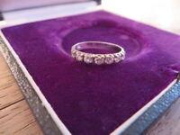 Hübscher 925 Silber Ring Zirkonia Wie Diamant Halbmemoryring Designer Modern Top