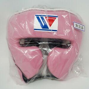 Winning Head Gear FG-2900 Face Guard Style Boxing Pink Sz L Japan BRAND NEW