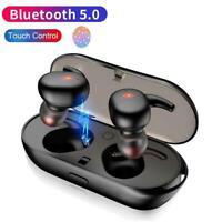 New bluetooth 5.0 Headset TWS Wireless Earphones Earbuds 5D Stereo Headphones