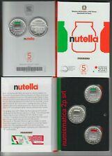 ITALIA monete TRITTICO originale 3 x 5 € argento FDC  NUTELLA 2021 DISPONIBILI