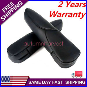 Leather Front Seat Armrest Cover fit for Honda CR-V CRV 2007-2009 Black U