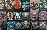 Wholesale lot of 12-48 black or assorted color BIKER graphic HOODIES