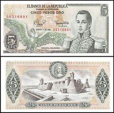 Colombia 5 Pesos Oro, 1981, P-406f, UNC