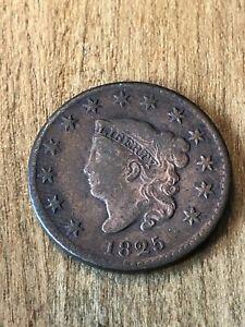 1825 Large Cent F