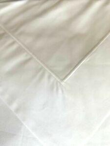 YVES DELORME PARIS WHITE//SILVER Piping 100/% Cotton KING Sheet Set