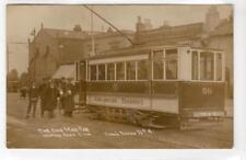 THE ONE MAN [Tram] CAR, HAMPTON PARK, SOUTHAMPTON: Hampshire postcard (C34655)