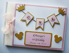 Personalised Disney Minnie gold and silver birthday guest book, album, gift