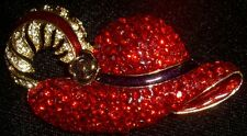 Gone With the Wind Scarlett O'Hara Rare Red BBQ Hat Brooch Pin ~ FREE Ship!