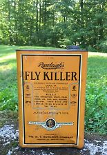 Vintage Original Rawleigh's FLY KILLER 1 Gallon Metal Can Great Graphics