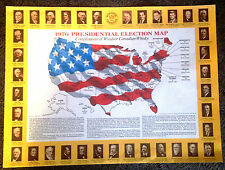 1976  Paper Place Mat of Presidential Election by Windsor Canadian Whisky !