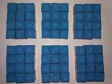 SKY BLUE MASTER CUE CHALK - 6 doz./72pcs