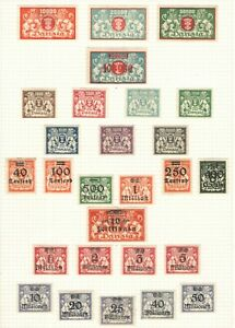 Germany - Danzig 1923 Inflation Era Collection MH/HR VG/F  - Nice Danzig lot