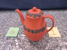 Wedgwood F Rosso Basalt Black Teapot Coffee Pot Pitcher Lidded Pottery Tea 1877