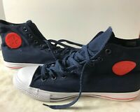 Converse Hi Top All Star Chuck Taylor Shoes  Blue Red and white