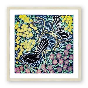 Aboriginal Art Print , Australian Art , Indigenous Art , Wall Decor , Bird Print