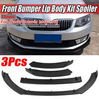 For SKODA Octavia 2015-2019 Matte Front Bumper Lip Body Kit Spoiler Splitter