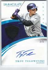 2015 Immaculate Material Prime Jersey Autograph AUTO 3/5 Troy Tulowitzki Rockies