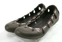 Crocs Women's Slip-On Comfort Flats Shoes Size 7 Rubber Brown Pink
