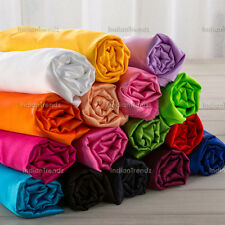 "Heavy Satin Fabric 44"" Wide Bridal Pillow Decor Material Sewing Craft Plain Robe"