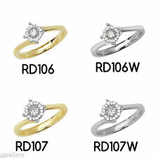 Round Yellow Gold I1 Fine Diamond Rings