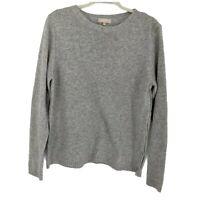 Benedetta B Women's Knit Sweater Size XL Gray Button Side Pullover Wool Blend