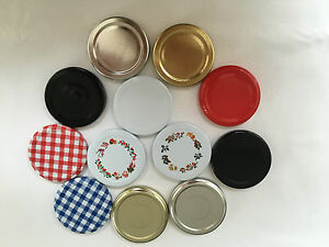 Replacement Jam Jar Lids 63mm Twist Off in choice of colours - Pack of 50