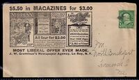 1900 Harper's Monthly Magazine Allover Ad Cover - To North Bucksport, Maine DPO