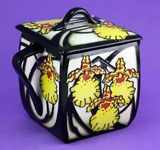 MOORCROFT DANCING LADY ORCHID LIDDED BOX, SHAPE 243/4, ULTIMATE BEST QUALITY
