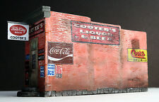 "Downtown Deco HO Scale Hydrocal ""Cooters Liquor & Beer"" kit + Bonus Sidewalks!"