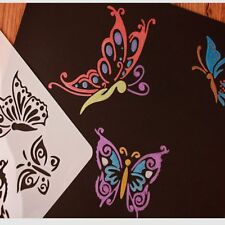 Butterflies Masking Spray Stencil Layering Stencils Wall Painting Decorative