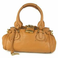 """Auth Chloe Paddington Logos Leather Hand Bag Italy F/S 10646bkac """