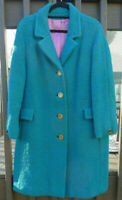 Colette Modes Dublin Vintage 1960's Donegal Tweed Wool Coat Women's Ireland