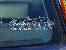 Static Cling Window Car Sign/Decal Sticker Our Children On Board 4 Teds