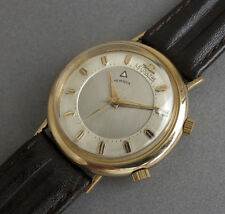 JAEGER LECOULTRE 10K Gold  Filled Memovox Wrist Alarm Watch 1964