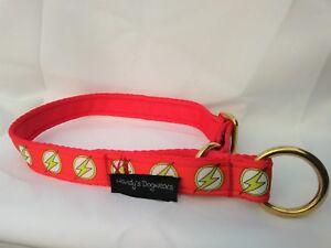 Flash soft feel webbing brass alaskan semi-slip dog collar