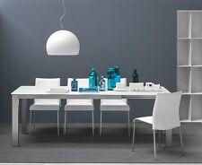 Calligaris Connubia Tisch BARON 4010 MV 160 cm Gestell satiniert Glas weiß matt