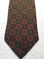 TOMMY HILFIGER MENS TIE 4 X 59 NWOT GREEN WITH RED AND GOLD