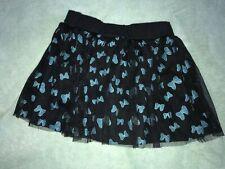 New listing Disney Minnie Mouse Girls Black Skirt Blue Bow 6X