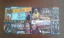 lote de 4 participaciones de lotería de navidad del F.C. Barcelona.