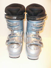 Nordica BXR Ergoframe Mens Womens Silver Downhill Ski Boots Size 235  955/560