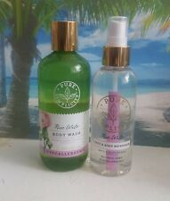 bath and body works rose water body wash & face body refresher mist
