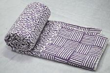Kantha Quilt Bedding Indian Cotton Traditional Ethnic Blanket Coverlet Bedspread