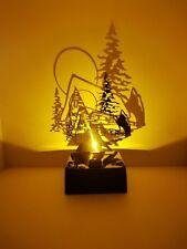 LED Tischleuchte Shadow Hütte Dekolampe Weihnachten Deko Licht akkubetrieben