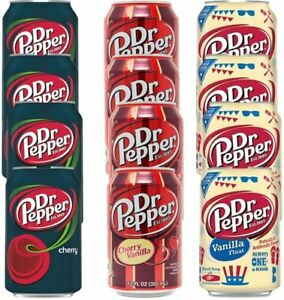 Dr Pepper Drinking Cans 12oz 355ml Pack of 12