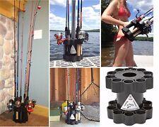 Fishing Rod Retainer Holder Carrier Storage Transport Boat Dock Holds Multiple