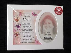Special Mum Memory Mount Thank You Gift With Poem Verse Photo Frame Picture New