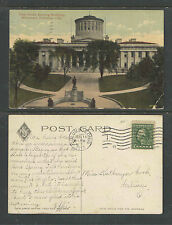 1912 STATE HOUSE SHOWING McKINLEY MONUMENT COLUMBUS OHIO POSTCARD