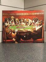 "Eight Drunken Dogs Playing Poker Vintage Retro Tin Metal Sign 12-1/2""x16"""