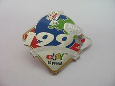Ebay Bid UK 1999 First International Site 10 Years Celebration Pin